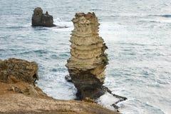 Pila nella grande strada dell'oceano del mare, Australia fotografia stock