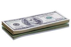 Pila nuova di $100 banconote in dollari Immagini Stock Libere da Diritti