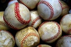 Pila o pila de béisboles para jugar a juegos Fotos de archivo