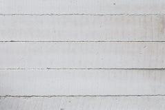 Pila orizzontale di unità concrete aerate sterilizzate nell'autoclave della muratura Fotografie Stock