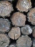 Pila piegata di legna da ardere Fotografia Stock
