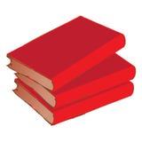 Pila roja del libro de la vendimia Imagen de archivo libre de regalías
