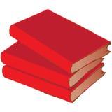 Pila roja del libro de la vendimia Fotografía de archivo libre de regalías