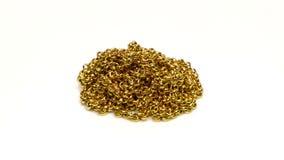 Pila rotativa del collar de oro del oro almacen de metraje de vídeo