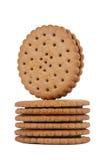 Pila rotonda dei biscotti Fotografie Stock Libere da Diritti
