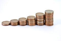 Pila rusa de las monedas Fotografía de archivo libre de regalías