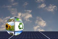 Pila solare Fotografia Stock