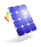 Pila solare. Immagine Stock