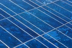 Pila solare del primo piano Fotografie Stock Libere da Diritti
