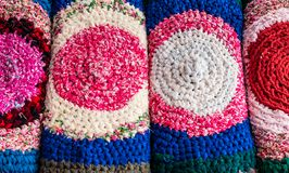 Pila tradicional de la alfombra. Imágenes de archivo libres de regalías