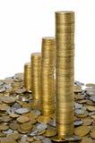 Pila verticale di monete Immagine Stock Libera da Diritti