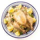 Pilaf цыпленка сверху Стоковая Фотография RF
