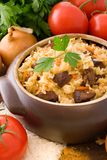 Pilaf. Is a classic Middle Eastern and Central Asian dish Royalty Free Stock Photography
