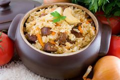 Pilaf. Is a classic Middle Eastern and Central Asian dish stock photography