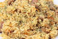 Pilaf. The most popular dish of the countries of Central Asia and the Middle East Royalty Free Stock Photography