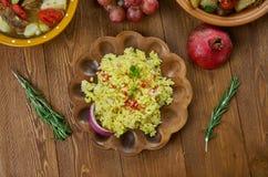 Pilaf armenio del arroz de las tías foto de archivo