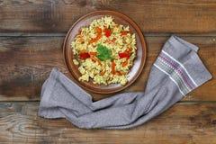 Pilaf, arroz, cena, oriental, auténtico, comida, árabe, musulmanes, imagen de archivo