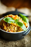 Pilaf with beef, carrots, onions, garlic, pepper and cumin. Stock Photos