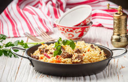 Pilaf with beef Royalty Free Stock Photo