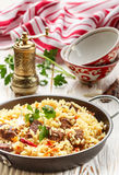 Pilaf with beef Stock Photography
