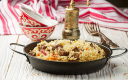 Pilaf with beef Royalty Free Stock Photography