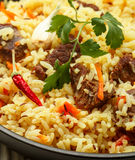 Pilaf with beef Royalty Free Stock Photos