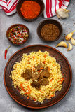 Pilaf with beef Stock Images