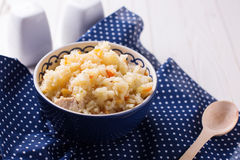 Pilaf in bowl Royalty Free Stock Photo