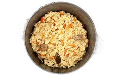 Pilaf in a cauldron Stock Photography