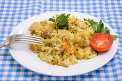 Pilaf chicken with the addition of quinoa Stock Images