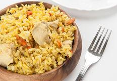 Pilaf with chicken Royalty Free Stock Images
