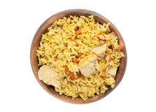 Pilaf with chicken Royalty Free Stock Photo