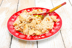 Pilaf with chicken Stock Image