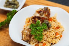 Pilaf with chicken Royalty Free Stock Photos