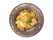 Pilaf with chicken Stock Photo