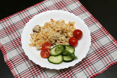 Pilaf with chicken  and vegetables Stock Photos