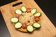 Pilaf with chicken and vegetables Stock Photography