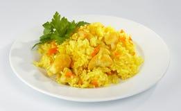 Pilaf com a galinha. imagens de stock royalty free