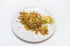 Pilaf con el pollo Imagen de archivo libre de regalías