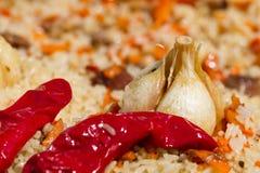 Pilaf con un aglio Fotografia Stock Libera da Diritti