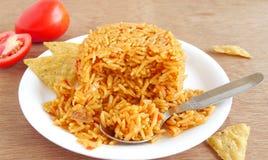 Pilaf del arroz del tomate Fotos de archivo libres de regalías