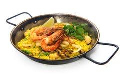Pilaf do arroz do Paella Fotografia de Stock Royalty Free