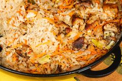 Pilaf at home Royalty Free Stock Images