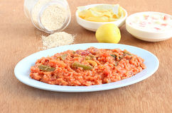 Pilaf indiano del miglio dell'agrostide minuto dell'alimento Immagini Stock