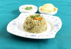 Pilaf indiano del riso dell'alimento Immagine Stock Libera da Diritti