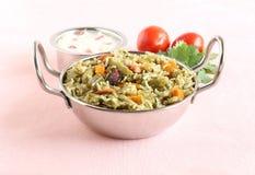 Pilaf indiano del riso dell'alimento Immagini Stock