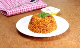 Pilaf indio del arroz de la comida Imagen de archivo