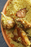 Pilaf with lamb above view closeup Stock Photography