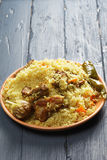 Pilaf with lamb Stock Image