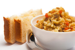 Pilaf with meat, carrots Royalty Free Stock Images